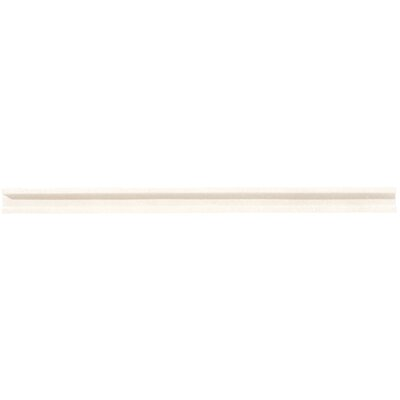 Honed Classic 0.75 x 12 Limestone Pencil Rail Tile in Blavet Blanc