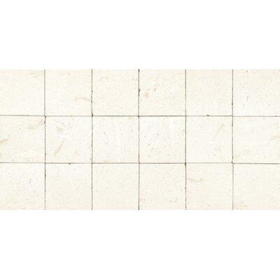 Tumbled 6 x 6 Limestone Mosaic Tile in Blavet Blanc