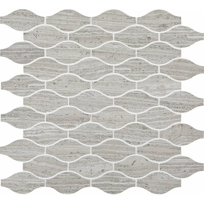 Polished Marquis 2 x 2 Limestone Mosaic Tile in Chenille White