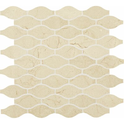Polished Marquis 2 x 2 Marble Mosaic Tile in Crema Marfil