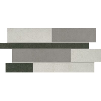 Portfolio 12 x 24 Porcelain Mosaic Tile in Skyline Blend