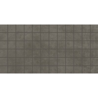 Portfolio 2 x 2 Porcelain Mosaic Tile in Iron Gray