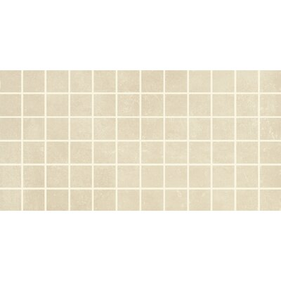 Portfolio 2 x 2 Porcelain Mosaic Tile in Cream