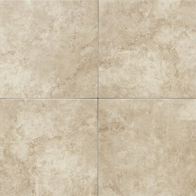 Salerno 18 x 18 Porcelain Field Tile in Creamona Cafe