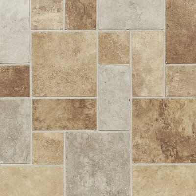 Salerno Universal Block Random 12 x 12 Porcelain Field Tile in Deco