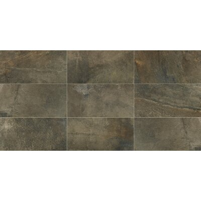 Slate Attache 12 x 24 Porcelain Field Tile in Green