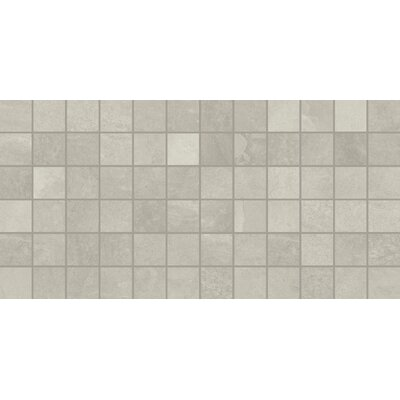 Slate Attache 12 x 24 Porcelain Mosaic Tile in Meta Light Gray