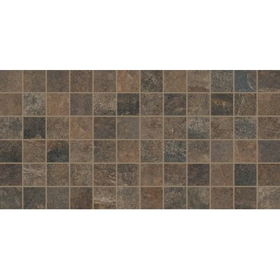 Slate Attache 12 x 24 Porcelain Mosaic Tile in Brown