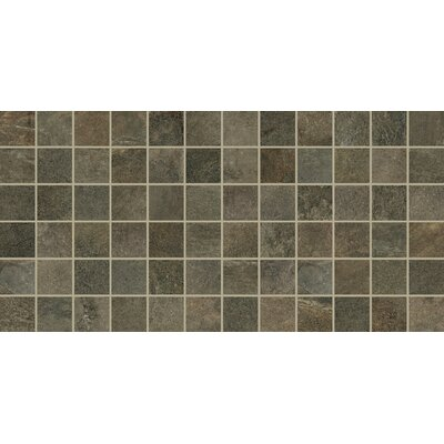 Slate Attache 2 x 2 Porcelain Mosaic Tile in Green