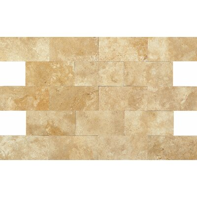 3 x 6 Travertine Subway Tile in Fossil Ridge