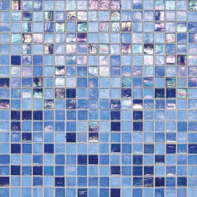 City Lights 0.5 x 0.5 Glass Mosaic Tile in Capri
