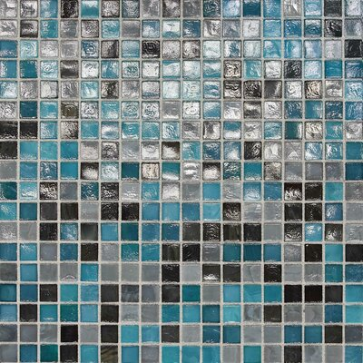 City Lights 0.5 x 0.5 Glass Mosaic Tile in Rio