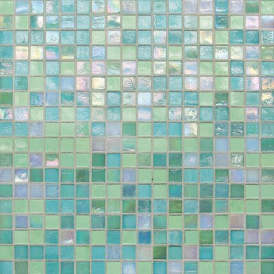 City Lights 0.5 x 0.5 Glass Mosaic Tile in Blue