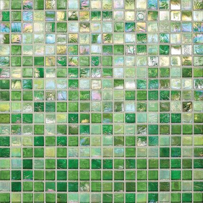 City Lights 0.5 x 0.5 Glass Mosaic Tile in Green