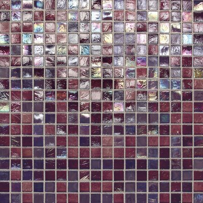 City Lights 0.5 x 0.5 Glass Mosaic Tile in Purple