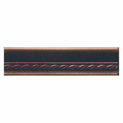 Ion Metals 6 x 1.5 Chair Rail Accent Tile Trim in Oil Rubbed Bronze