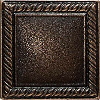 Ion Metals 2 x 2 Decorative Rope Accent Tile in Antique Bronze