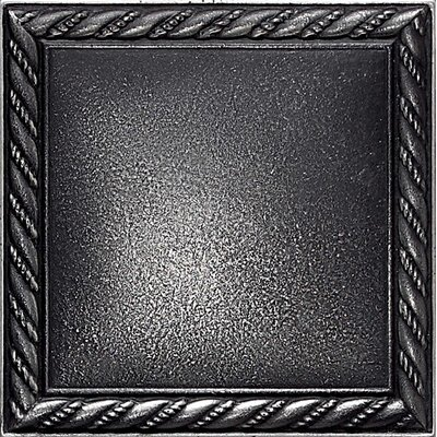 Ion Metals 4-1/4 x 4-1/4 Decorative Rope Accent Tile in Antique Nickel