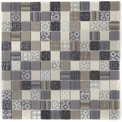 Uptown Glass 1 X 1 Glass Mosaic Tile in Metro Taupe