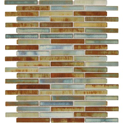 Fashion Accents 0.63 x 3 Glass Mosaic Tile in Lake