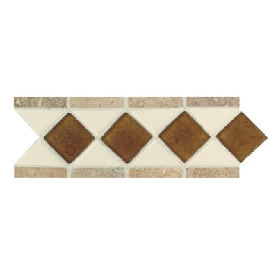 Fashion Accents 11 x 4 Decorative Listello in Almond/Reef/Noce
