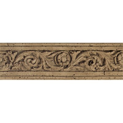 Fashion Accents 13 x 4 Romanesque Decorative Listello in Flora Noce
