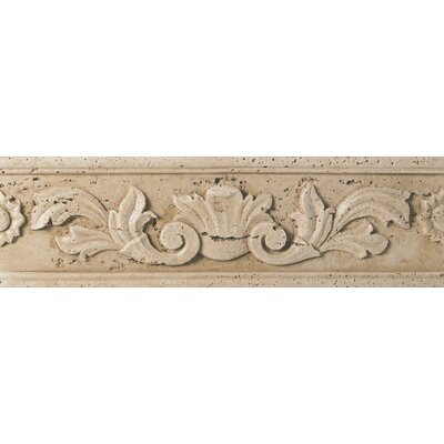 Fashion Accents 13 x 4 Romanesque Decorative Listello in Positano Travertine
