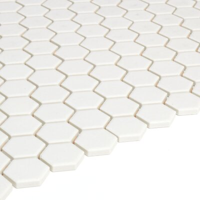 Keystones Hexagon 1 x 1 Mosaic Tile in Biscuit