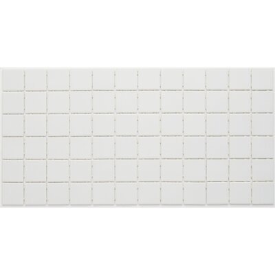 Dalton 2 X 2 Glass Mosaic Tile in Arctic White