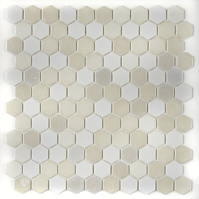 Lexington Hexagon 1 x 1 Mosaic Tile in Alabaster