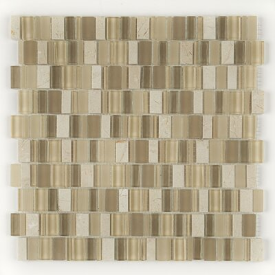 Clio 1 x Random Sized Glass Mosaic Tile in Nox