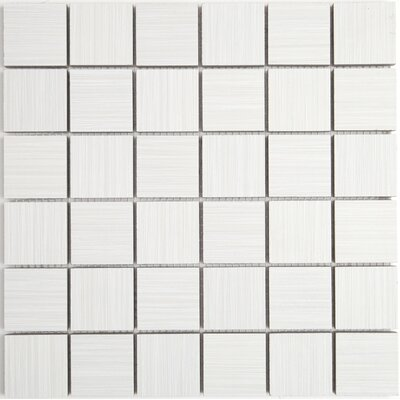 Fabrique 2 x 2 Ceramic Mosaic Tile in Blanc Linen