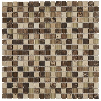 Quincy 0.63 x 0.63 Slate Mosaic Tile in Multi