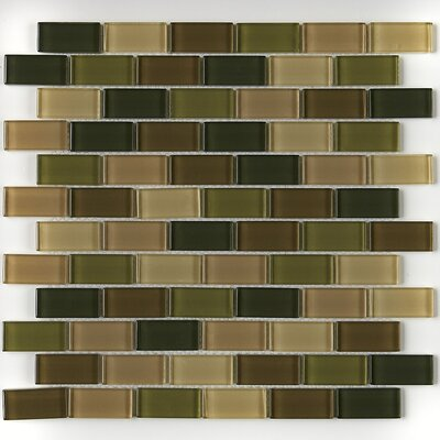 Geneva Brick-Joint 1 x 2 Mosaic Field Tile in Rain Forest