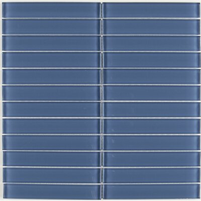 Geneva Straight-Joint 6 x 1 Mosaic Field Tile in Twilight Blue