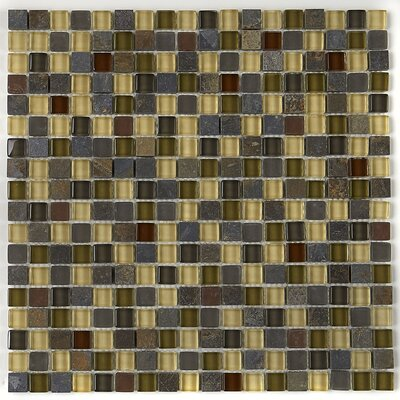 Pelham 5/8 x 5/8 Glass and Metal Mosaic Field Tile in Cactus