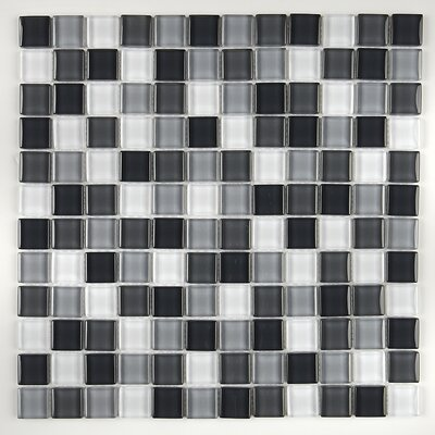 Geneva 1 x 1 Glass Mosaic Field Tile in Evening Mixer