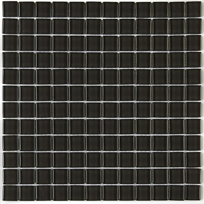 Geneva 1 x 1 Glass Mosaic Field Tile in Kinetic Khaki