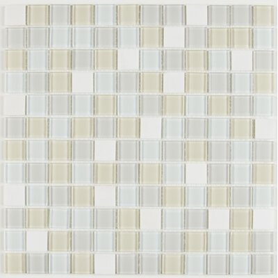 Gibson 1 x 1 Natural Stone and Glass Mosaic Tile in Oasis