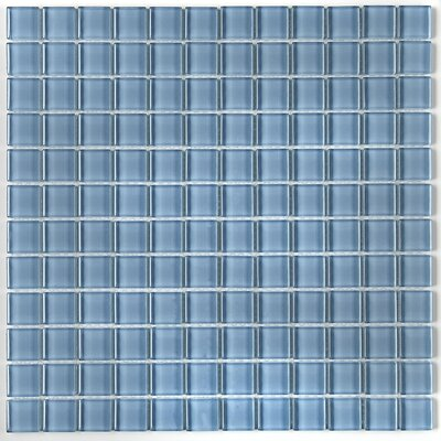 Geneva 1 x 1 Mosaic Field Tile in Blue Lagoon