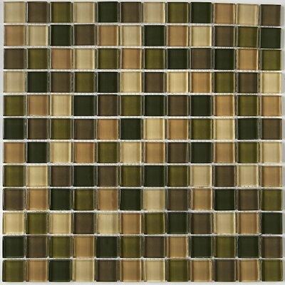 Geneva 1 x 1 Mosaic Field Tile in Rain Forest