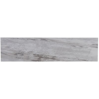 Mansfield Unpolished 6 x 24 Porcelain Field Tile in Silver Springs