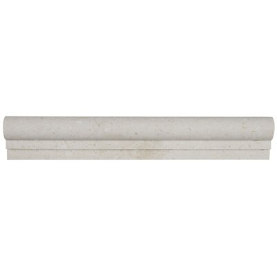 Honed 2 x 12 Limestone Chair Rail Tile in Blavet Blanc