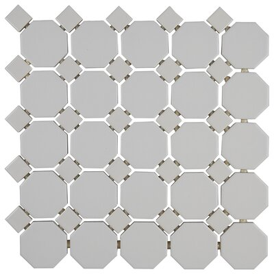 Osmond 2 x 2 Ceramic Mosaic Tile in Glazed Matte White