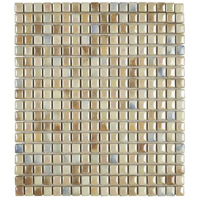 Morrison 0.63 x 0.63 Glass Mosaic Tile in Sand