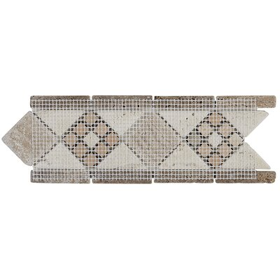 Fashion Accents 11 x 4 Decorative Burnished Accent Tile in Honed Light
