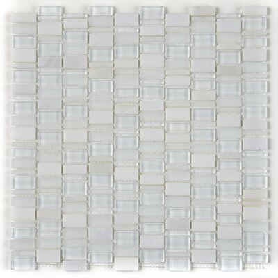 Clio 1 x Random Sized Glass Mosaic Tile in Luna