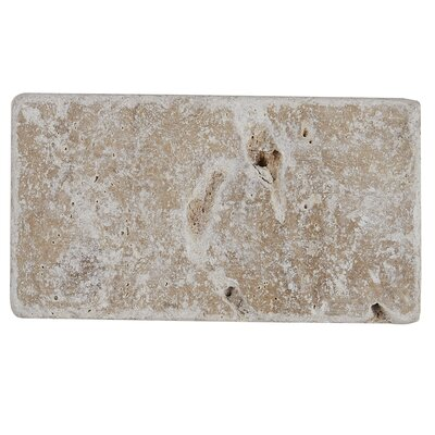 Hopkins 6 x 3 Natural Stone Field Tile in Light Noce