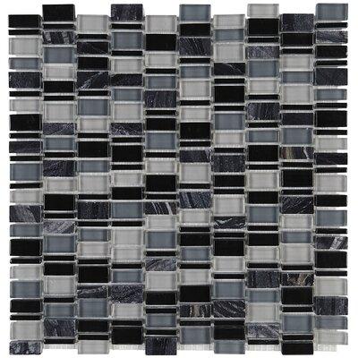 Clio Random Sized x 1 Glass Mosaic Tile in Boreas