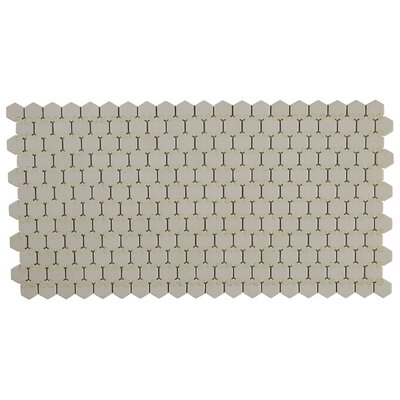 Dalton Hexagon 1 x 1 Mosaic Tile in Almond